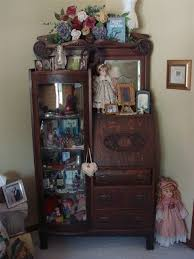 antique curio cabinet with curved glass antiques for antique curio cabinet curved glass desk www