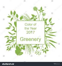 color year 2017 greenery trendy background stock vector 539757166