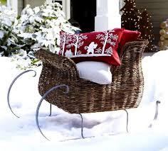 Outdoor Christmas Decorations Reindeer Sleigh by 31 Exterior Christmas Decorating Ideas Inspirationseek Com