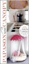 Pink Papasan Cushion by Old Papasan Turned Into A Papasan Canopy Reading Nook