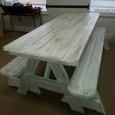 Free Picnic Table Plans 2x6 by Picnic Tables Distressed Finish Custom Made To Order 2x6