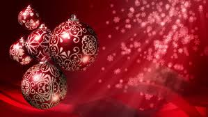 christmas balls and gifts loop red green and gold baubles and