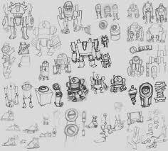 robot sketches by deadxiii on deviantart
