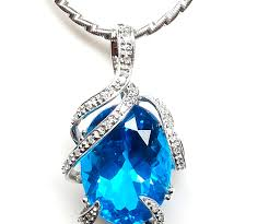 topaz stone necklace images 14kt white gold 16 24ct diamond and blue topaz necklace d jpg