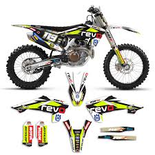 motocross bikes for sale ebay 2016 2017 husqvarna 125 450 team revo motocross graphics kit