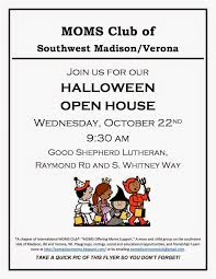 kids halloween party flyers moms club of madison southwest halloween party and club open house
