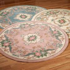 Cream Round Rug by Aubusson Rugs Touch Of Class