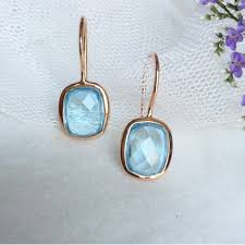hook earrings sky blue topaz gold hook earrings jl heart online