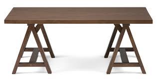 simpli home sawhorse coffee table u0026 reviews wayfair