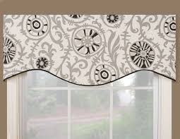kitchen window valances ideas vcny infinity sheer window scarf valance 54x216 black valance