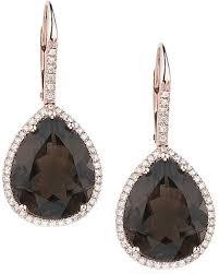 smoky quartz earrings smoky quartz diamond earrings e150