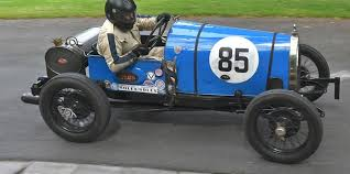 vintage bugatti race car prescott speed hill climb