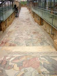 350 sq ft corridor of the great hunting mosaic 60 meters long and 350 sq ft