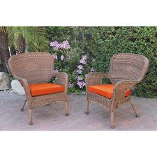Cushions For Wicker Patio Furniture Decor Tips Traditional Rattan Wicker Patio Chairs With Orange