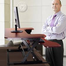Adjustable Desk Standing Sitting by Amazon Com Jaxpety Standing Desk The Deskriser 36