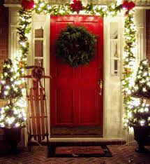 smashing in outdoor entrance as as houses decorated as