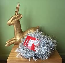 thrift store transformation a christmas deer u0026 sideboard