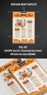 alcohol menu template by barcelonadesignshop graphicriver