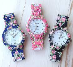 new fashion floral flower geneva watch garden beauty bracelet
