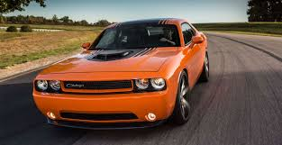 Dodge Challenger Orange - 2014 dodge challenger shaker muscle car with air intake hood