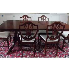 duncan phyfe style dining table and hepplewhite style chairs ebth
