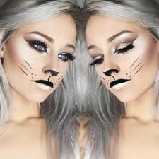 Diy Halloween Makeup Ideas Cat Halloween Makeup Cur Crease Glitter Instagram Cammie919