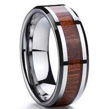 rings wooden images Max tungsten carbide wood inlay 8mm tungsten rings jpg&a