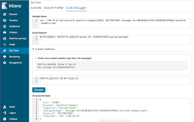 grok pattern exles getting started with the grok debugger kibana user guide 6 2