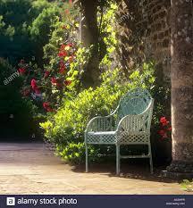Metal Garden Chair Classic Lattice Metal Garden Chair In Sunny English Home Country