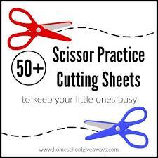 50 free scissor practice cutting sheets free homeschool deals
