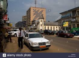 mercedes downtown in akwa commercial district of downtown douala
