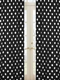 Black Polka Dot Curtains Artofabric Decorative Cotton Polka Dot Curtain Panel