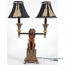 Antique Double Desk Lamp Lion Table Lamp Foter