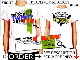 alumni tshirt bnchs batch 2010 alumni t shirt design jhanie draftster