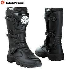 long road moto boot scoyco mbt012 boots motorcycle racing off road long shoes speed