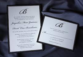 formal wedding invitations formal black monogram and border wedding invitations emdotzee