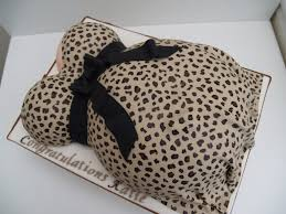 leopard print baby bump baby shower cake cakecentral com