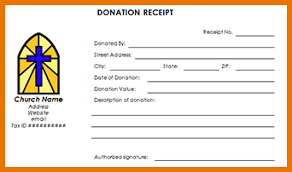 non profit donation receipt template church donation receipt