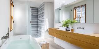 gray and white modern master bathroom cramy white tiles that will