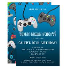 video game party invitations u0026 announcements zazzle co uk