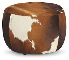 Cowhide Chairs And Ottomans Lind Modern Cowhide Round Ottomans Modern Ottomans U0026 Footstools