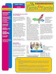 family to family newsletter children s specialized hospital