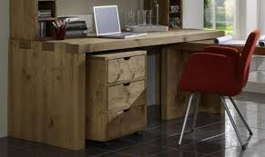 Schreibtisch Massiv Echtholz Schreibtisch Kiefer Massiv Balken Holz Gebeizt Gewachst