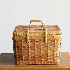 vintage picnic basket best wicker picnic basket products on wanelo