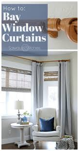 How To Hang Bay Window Curtains How To Bay Window Makeover Sawdust 2 Stitches