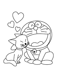 cat and doraemon cartoon coloring pages cartoon coloring pages