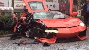 lamborghini aventador crashes lamborghini aventador has a frontal collision with a in
