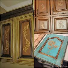 painting wood kitchen cabinet doors 20 diy cabinet door makeovers with furniture stencils diy