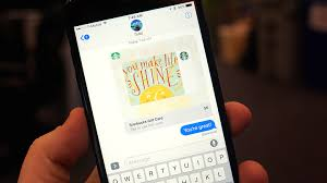 mobile gift cards how to send starbucks with imessage