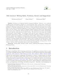 esl learners u0027 writing skills problems factors and suggestions